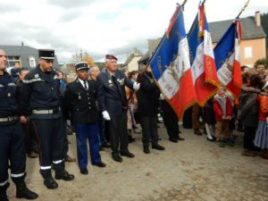Commémoration du 11 Novembre à Bourgs sur Colagne, Lozère